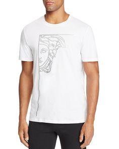 872baa7c Versace Collection Versace Glitter Stamped Medusa Crewneck Short Sleeve Tee  Men - T-Shirts & Henleys - Bloomingdale's