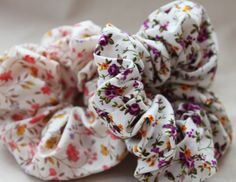 Floral Romantic Hair Scrunchie by TomiBell on Etsy