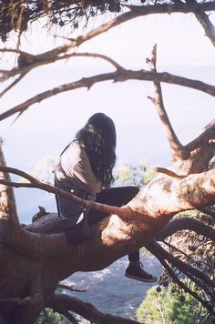 One of the best things on earth to do, climb trees. You don't see many people at my moms age doing it, but she does! :)
