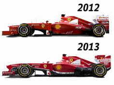 F2012 vs F138. I guess some remembered to design the nose again