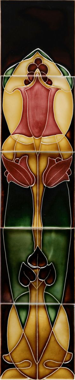 Historic Tiles - Moulded Art Nouveau Tiles - Companion Lily