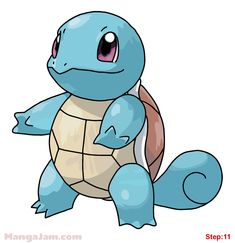 How to Draw Squirtle from Pokemon step 11
