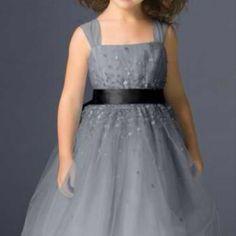 GREY FLOWER GIRL DRESSES - Sanmaz Kones