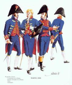 Tropas Españolas. La Marina 1808