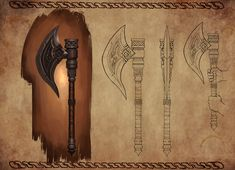 Weapon Design - Dwarf King's Axe by leonwoon