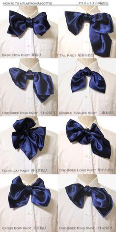 How to Tie a Ascot Tie , Plastron
