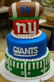 New York Giants Cake.. OMGOD I wanna have this is in a party or my futures sons bday lol