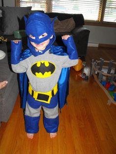 """Batman and Robin"" Part 1 - Christine Trevino Batman And Robin Costumes, Batman Costume For Kids, Cheap Halloween Costumes, Cute Costumes, Halloween Crafts, Halloween Ideas, Costume Ideas, Batman Party, Superhero Party"
