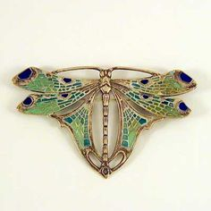 ART NOUVEAU ENAMELLED BROOCH
