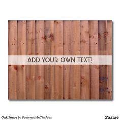 Oak Fence Postcard