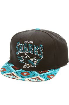 Mitchell & Ness Cap San Jose Sharks Snapback in Black & Teal : Karmaloop.com - Global Concrete Culture