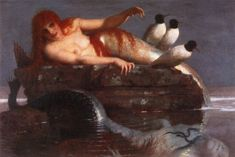 """Arnold Böcklin's """"Calm Sea."""" ."""