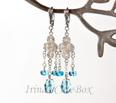 I made these earrings myself, and now I'm giving them away!!! http://irinascutebox.blogspot.com/2014/08/sterling-silver-earrings-giveaway.html