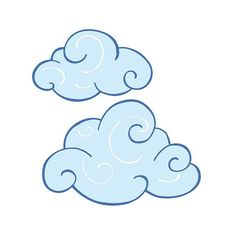 Decorate Any Nursery Or Childs Room With These Whimsical Swirly Clouds Wallie Decals Light Blue Cheer Up Area Of A And Make