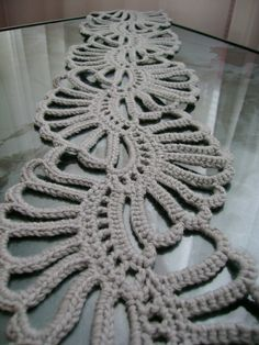this is supposed to be a scarf, but it would make an incredible table runner!!