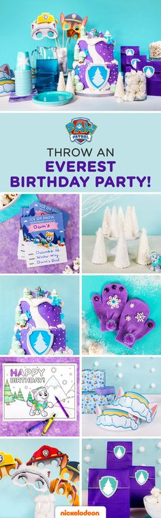Planning a PAW Patrol Everest birthday party for your kid? This simple, step-by-step guide will transform your home into a winter wonderland fit for your child AND their favorite huskey pup! Make wishes come true with the PAW Patrol birthday party they've always dreamed of with our snowy party planning tips, free printable party supplies, recipes, party activities, and more.