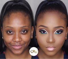 black womens makeup desk - black women's Simple Makeup Tips, Makeup Tips For Beginners, Makeup Desk, Eye Makeup, Makeup Pics, Glam Makeup, Makeup Art, Brown Skin Makeup, Power Of Makeup