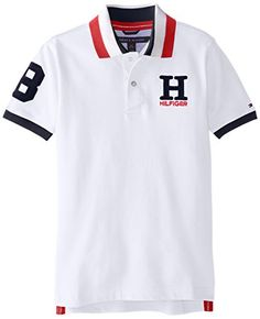Tommy Hilfiger Big Boys\u0027 Short Sleeve Matt Polo, White, Medium Tommy  Hilfiger http://www.amazon.com/dp/B00P2AVVHY/ref\u003dcm_sw_r_pi_dp_EhCkvb08XTC2T