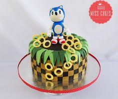 Sonic Cake, Torta Sonic, Boy Cake