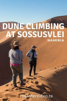 Climbing the dunes at Sossusvlei #Namibia #travel #Africa #Sossusvlei