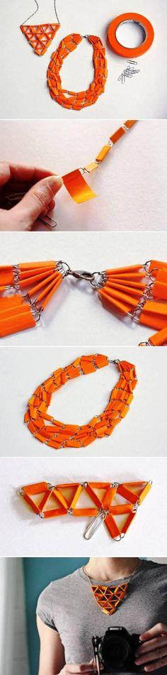 DIY Unusual Paper Clip Necklace
