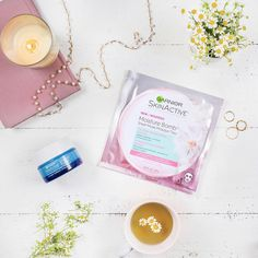 "682 aprecieri, 6 comentarii - GarnierUSA (@garnierusa) pe Instagram: ""Enjoy #Chamomile tea ☕️ + a #sheetmask (with the same soothing ingredient) for a relaxing…"""