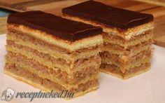 Hungarian Desserts, Hungarian Cake, Hungarian Recipes, Zserbo Recipe, Cake Cookies, No Bake Cake, Baking Recipes, Deserts, Food And Drink