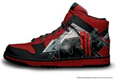 Skrillex shoe. holy moly these are frickin cute I WANT THEM!!!!