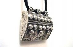 Antique Silver Taviz Prayer Box Amulet, Rajasthan ...