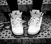 Inspiring picture black and white, girl, jordans, shoes, swag. Resolution