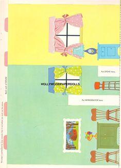 VINTAGE UNCUT 1963 DOLLHOUSE PUNCH-OUT BOOK