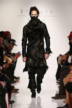 Future Dark Fashion, Man in Black///Elliott Evan Fall/Winter 2013 #NY