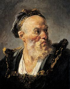 Jean-Honoré Fragonard, Tête de vieillard, vers 1765. Paris, musée Jacquemart-André.