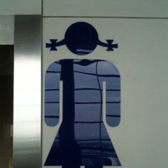 중국 화장실 1편.  여자 표시.  서안공항