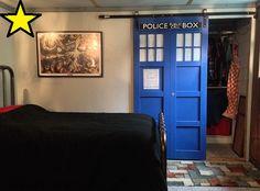 """DR WHO TARDIS"" CLOSET SLIDING BARN DOOR"