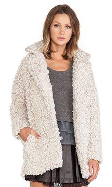 JOA Blazer Boucle Coat in Dust Rose   REVOLVE