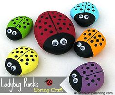 Spring Decorative Garden Craft: Ladybug Rocks - 2littledollz Deals