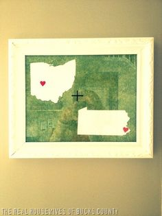 Where we're from state artwork. Cute idea