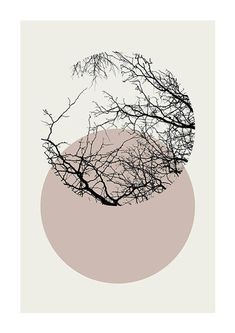 Best Indoor Garden Ideas for 2020 - Modern Circle Art, Circle Design, Illustration Inspiration, Illustration Art, Mask Design, Design Art, Design Ideas, Kunst Poster, Winter Trees