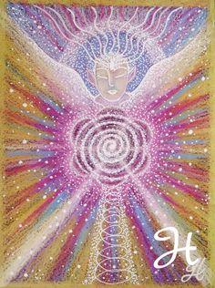 Lemurian Angel - Reiki charged Original artwork