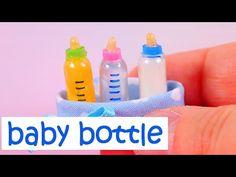 DIY miniature Baby Bottles ~ with Milk, Water, and Orange Juice - YouTube