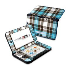 Nintendo 3DS XL Skin - Turquoise Plaid by DecalGirl Collective | DecalGirl