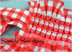 Smocking tutorial - Site Blog Articles