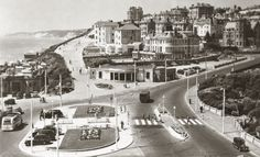 Pier Approach, Bournemouth, Dorset [c. New Forest, Rare Photos, Buses, Old Houses, Bournemouth England, 1950s, Past, Throwback Thursday, Cliff