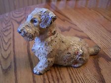 Vintage Solid Cast Iron Dog Door Stop Very Very Collectible