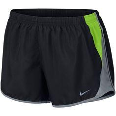 Women's Nike 10K Dri-FIT Running Shorts ($30) ❤ liked on Polyvore featuring activewear, activewear shorts, dark grey, logo sportswear, nike, nike sportswear and nike activewear