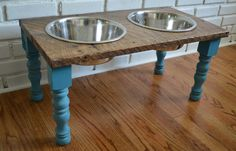 Reclaimed Wood Pet Feeders – eclectic – pet accessories – other metro – Reclaime… Reclaimed Wood Pet Feeders – eclectic – pet accessories – other metro – Reclaimed Things, LLC Raised Dog Feeder, Elevated Dog Feeder, Elevated Dog Bowls, Raised Dog Bowls, Dog Food Bowls, Dog Rooms, Pet Feeder, Dog Houses, Diy Stuffed Animals