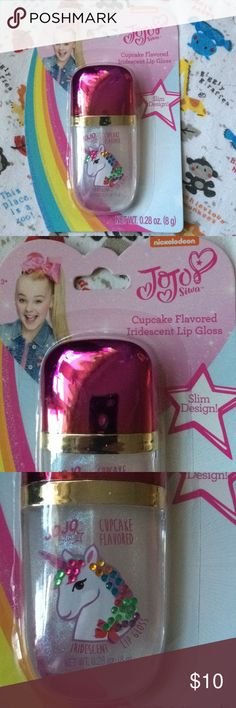 JOJO SIWA UNICORN Iridescent LIP GLOSS CUPCAKE New JOJO SIWA UNICORN Iridescent LIP GLOSS CUPCAKE FLAVOR New JoJo Siwa Accessories