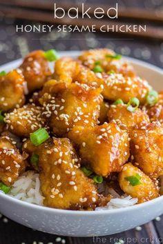 Delicious Baked Honey Sesame Chicken Recipe!