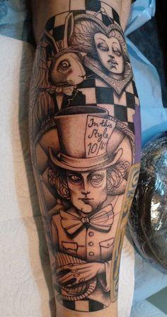 Magician 3D Tattoo On Arm